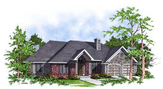Traditional Style Home Design Plan: 7-115
