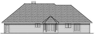 Rear Elevation Plan: 7-115