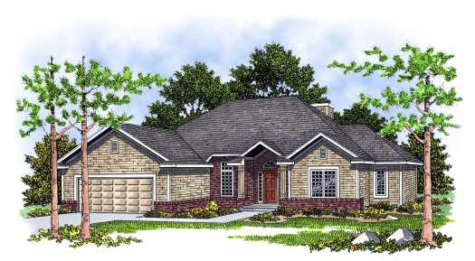 Traditional Style Home Design Plan: 7-116