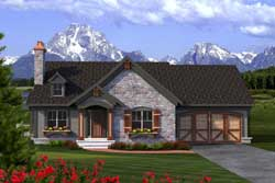English-Country Style Floor Plans Plan: 7-1163