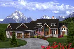 Mountain-or-Rustic Style Floor Plans Plan: 7-1166