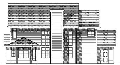 Rear Elevation Plan: 7-117