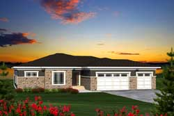 Prairie Style House Plans Plan: 7-1171