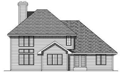 Rear Elevation Plan: 7-118