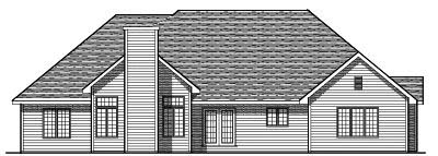 Rear Elevation Plan: 7-119