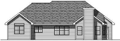 Rear Elevation Plan: 7-120