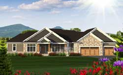 Ranch Style House Plans Plan: 7-1205