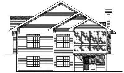 Rear Elevation Plan: 7-121