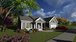 Traditional Style Home Design Plan: 7-1210