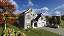 Craftsman Style Home Design Plan: 7-1219