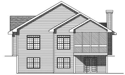 Rear Elevation Plan: 7-122