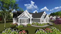 Coastal Style House Plans Plan: 7-1221