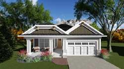 Craftsman Style Home Design Plan: 7-1232