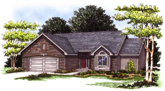 Traditional Style Home Design Plan: 7-124