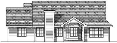 Rear Elevation Plan: 7-124