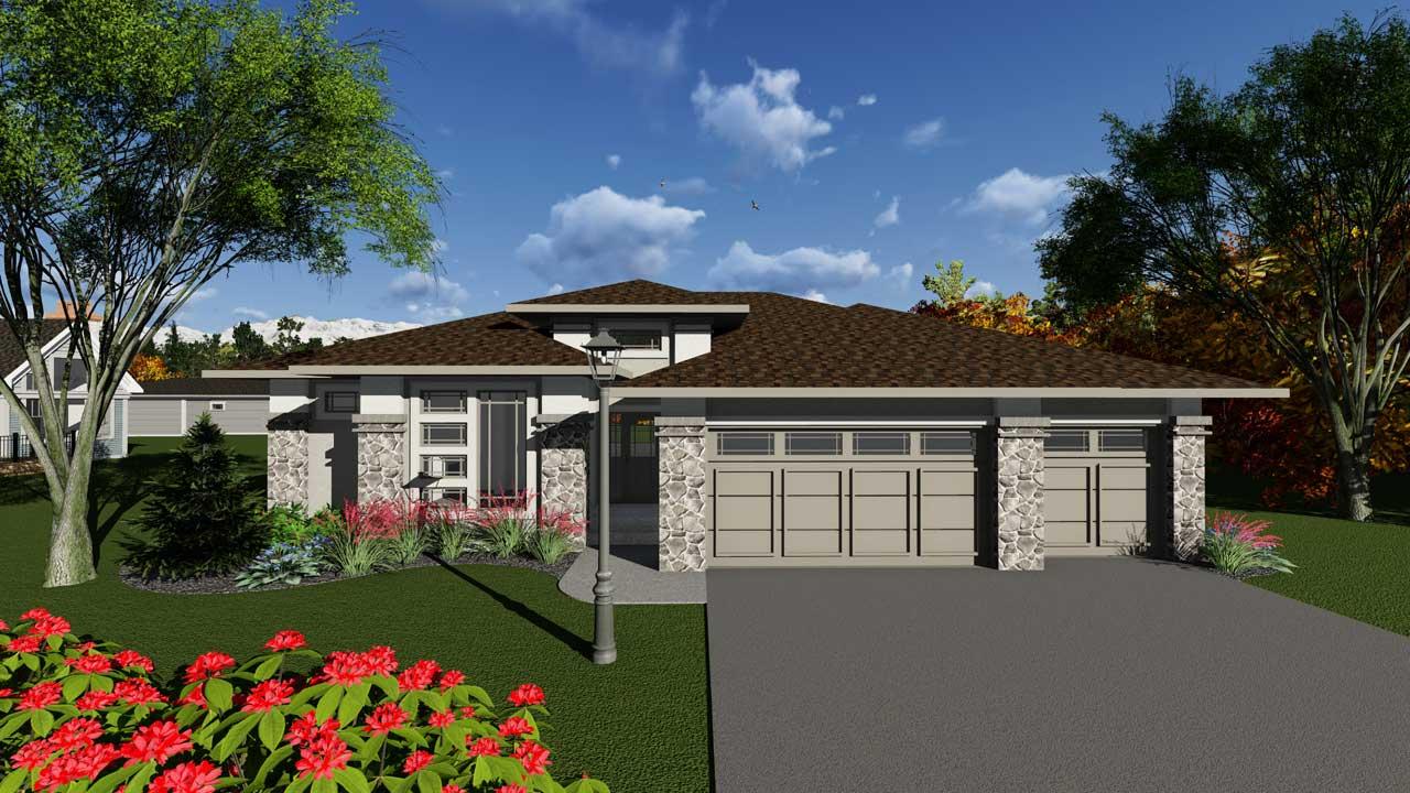 Modern Style House Plans Plan: 7-1243