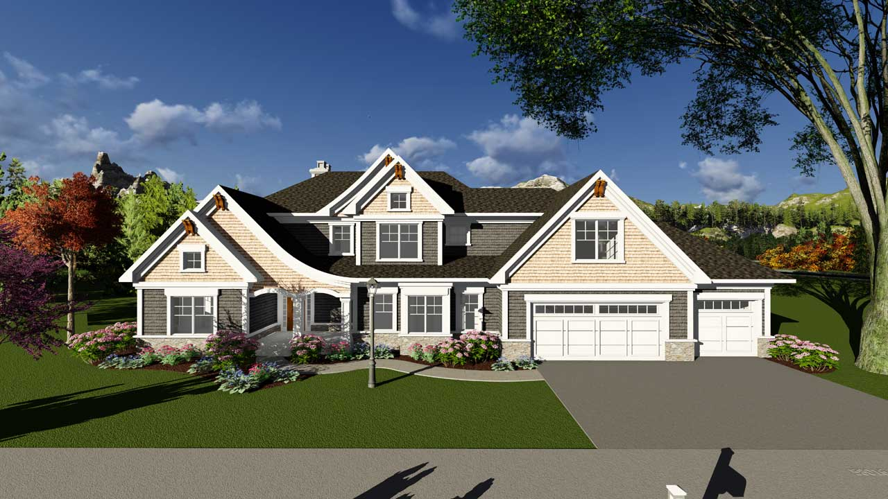 Craftsman Style Home Design 7-1258
