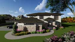 Contemporary Style Home Design Plan: 7-1262