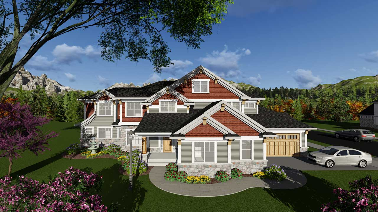 Craftsman Style House Plans Plan: 7-1263