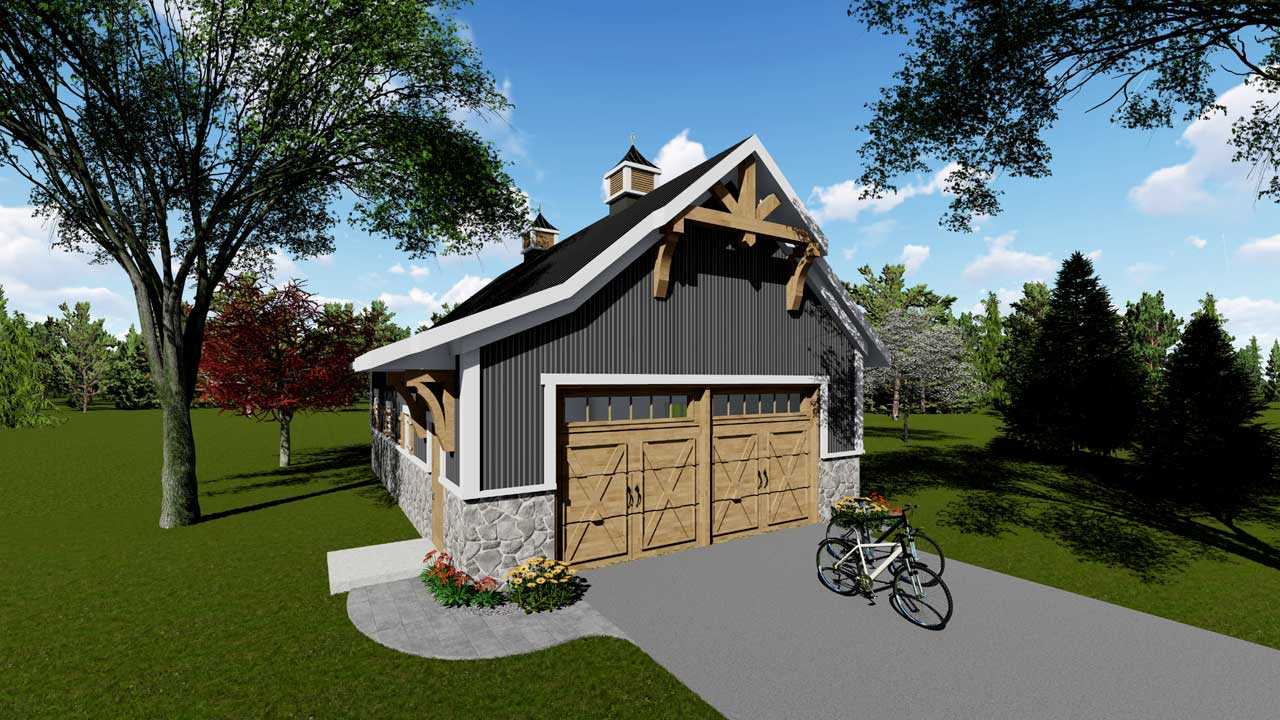 Carriage Style House Plans Plan: 7-1270