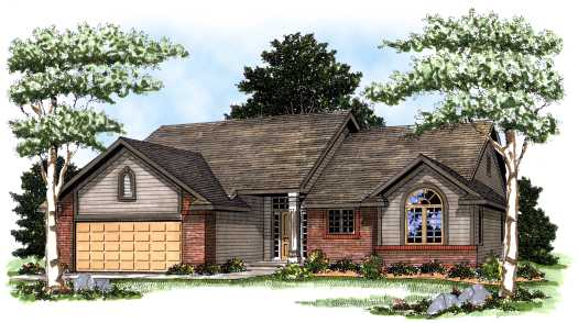 Traditional Style Home Design Plan: 7-128