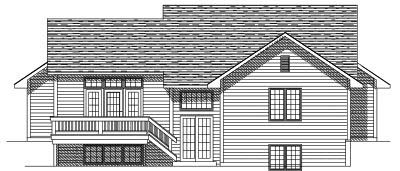 Rear Elevation Plan: 7-128