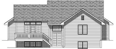 Rear Elevation Plan: 7-129