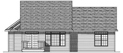 Rear Elevation Plan: 7-130
