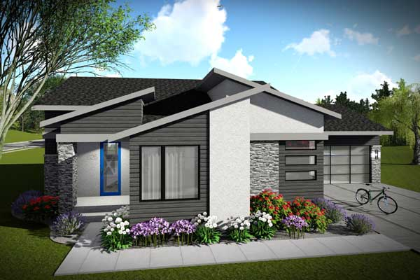 Modern House Plan 2 Bedrooms 2 Bath 1477 Sq Ft Plan 7 1300