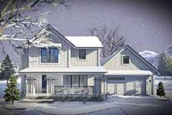 Modern-Farmhouse Style Floor Plans Plan: 7-1301