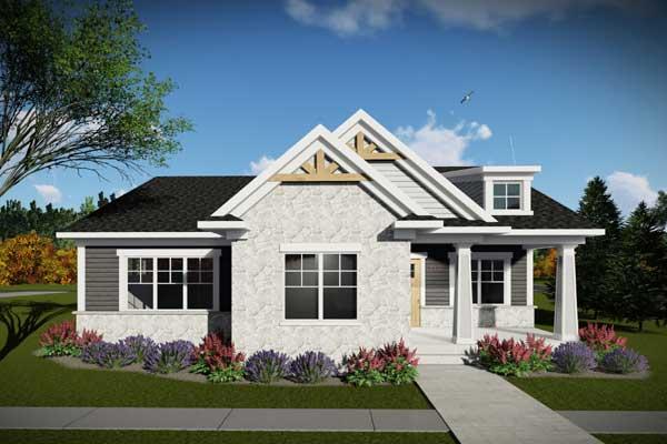 Craftsman Style Home Design Plan: 7-1307