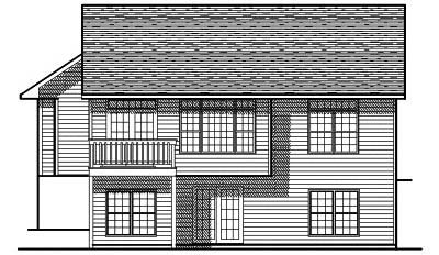 Rear Elevation Plan: 7-131