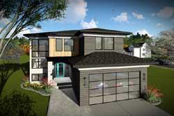 Modern Style Floor Plans Plan: 7-1313