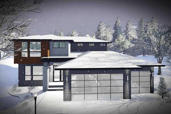 Modern Style Floor Plans Plan: 7-1314