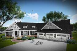 Modern-Farmhouse Style Home Design Plan: 7-1316