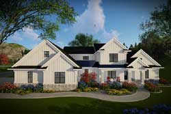 Modern-Farmhouse Style House Plans Plan: 7-1317