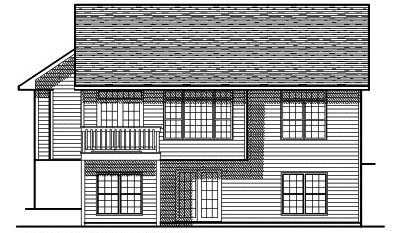 Rear Elevation Plan: 7-132