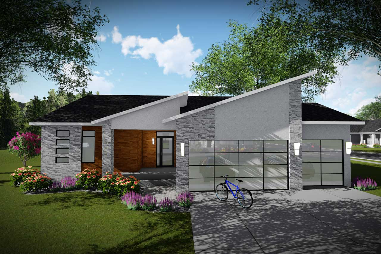 Modern Style Home Design 7-1328