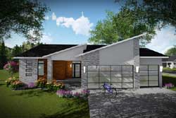Modern Style House Plans Plan: 7-1328