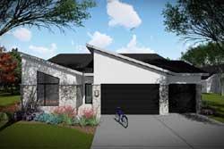 Modern Style Home Design Plan: 7-1330