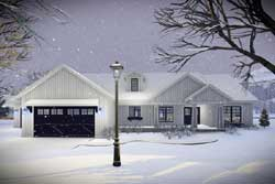 Modern-Farmhouse Style House Plans Plan: 7-1334