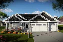 Craftsman Style Home Design Plan: 7-1336