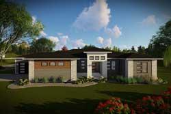 Modern Style Floor Plans Plan: 7-1339