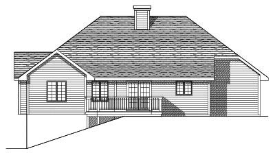 Rear Elevation Plan: 7-134