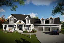 Craftsman Style Home Design Plan: 7-1343