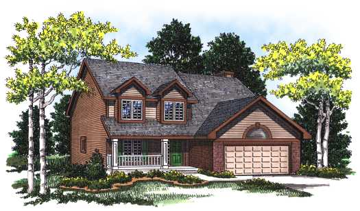 Traditional Style Home Design Plan: 7-135