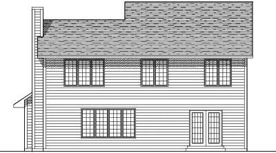 Rear Elevation Plan: 7-135