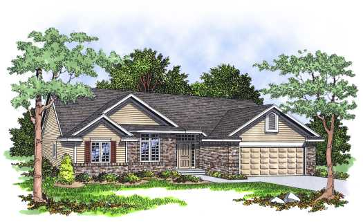 Traditional Style Home Design Plan: 7-136