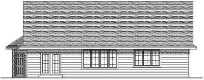 Rear Elevation Plan: 7-136