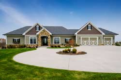 Ranch Style Home Design Plan: 7-1362